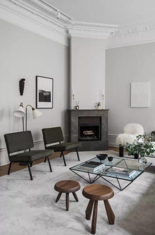 salon minimalista y moderno funcional
