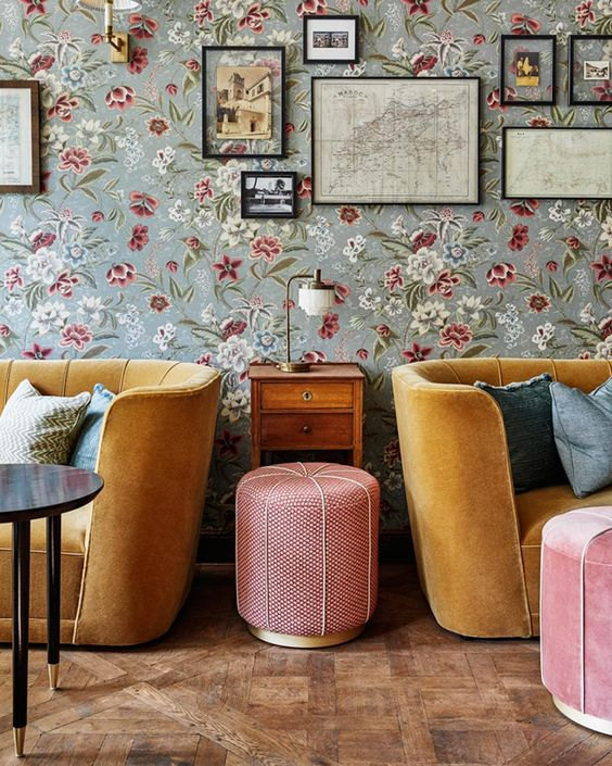 Colores Cálidos como base Vintage y chic del salón