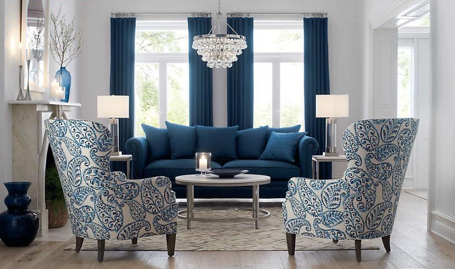 sofá del salón Estampados en Azul