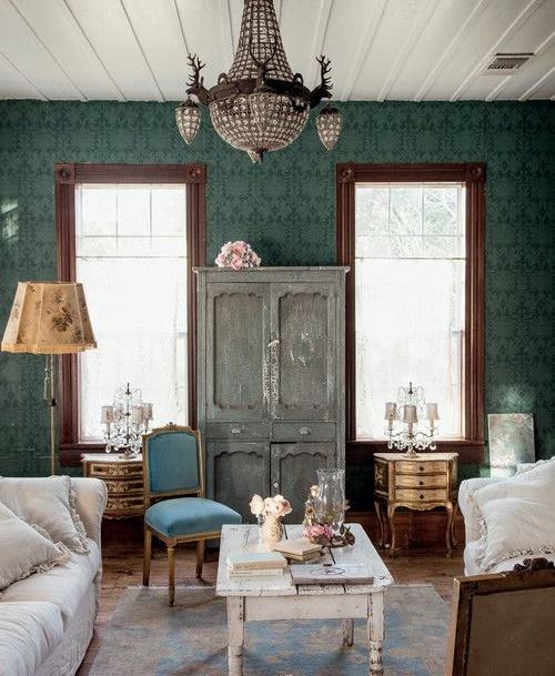 Salón Vintage Acogedor y chic