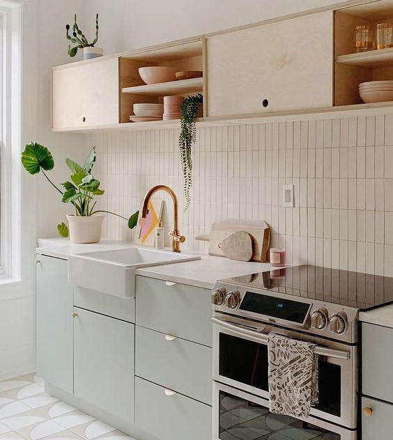 Modelo Horizontal de estantes para la cocina