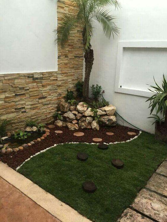 decoración de jardines con mulch pequeños