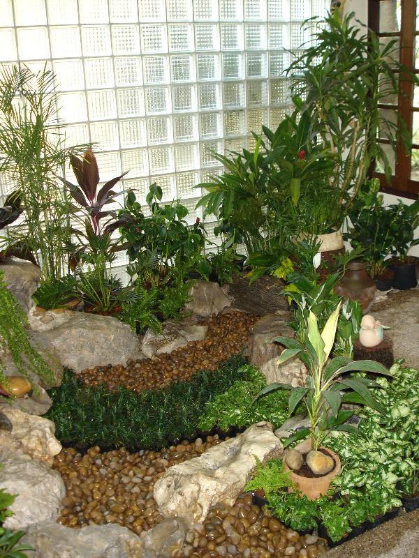 decoración de jardines interiores con mulch