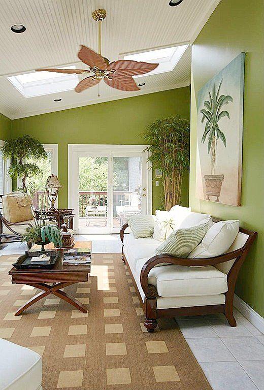 Abre a la luz un salón tropical