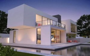 Casas minimalistas blancas