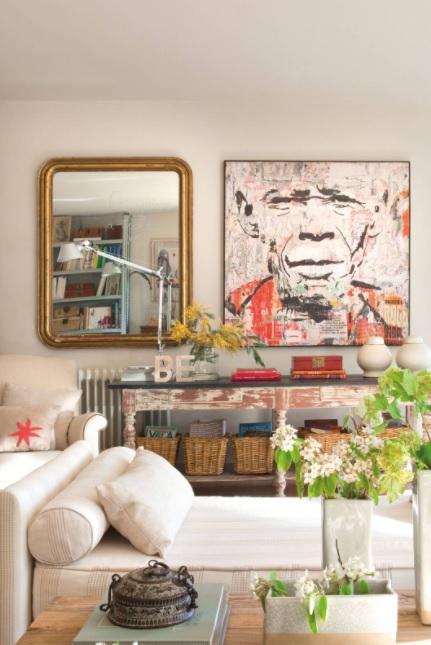 decoración vintage para el salón y moderno