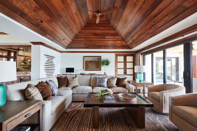 Elige madera exótica para un aire tropical en tu salón