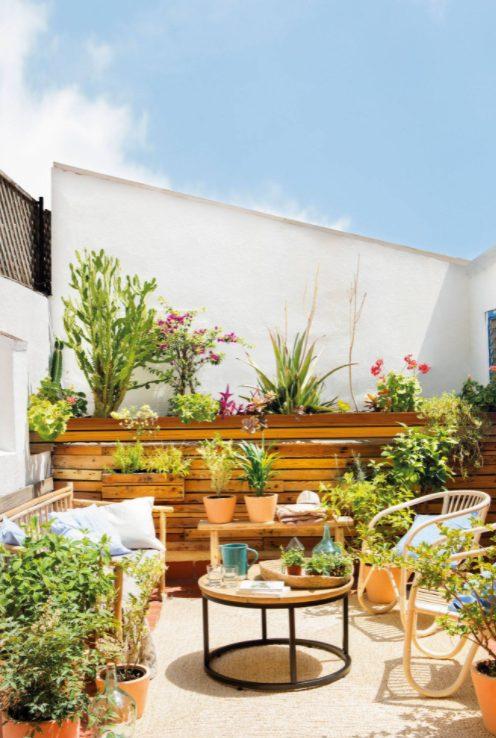 Jardín pequeño con plantas a tu alrededor