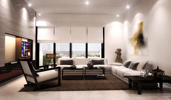 Mantén simple el salón, si quieres que sea moderna