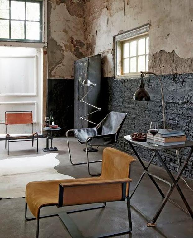 salon industrial y rustico