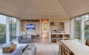 casa de madera nórdica