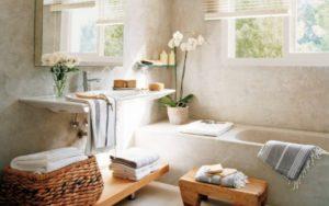 decoracion de baños con plantas naturales