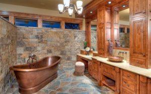 decoracion de baños rusticos