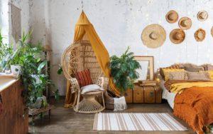 decoración de casa estilo boho