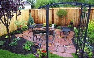 decoración de jardines con mulch
