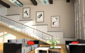 decoración de muros de escaleras