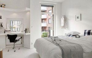 habitacion con estilo nordico