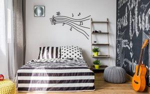 habitaciones con decoracion musical