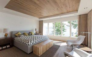 habitaciones con techos de madera