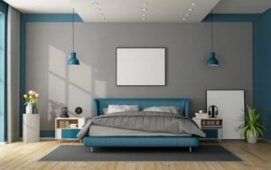 habitaciones con una pared gris