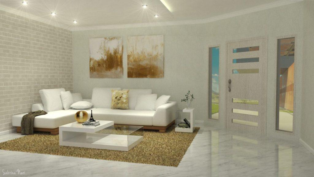 salon blanco y dorado veraniego