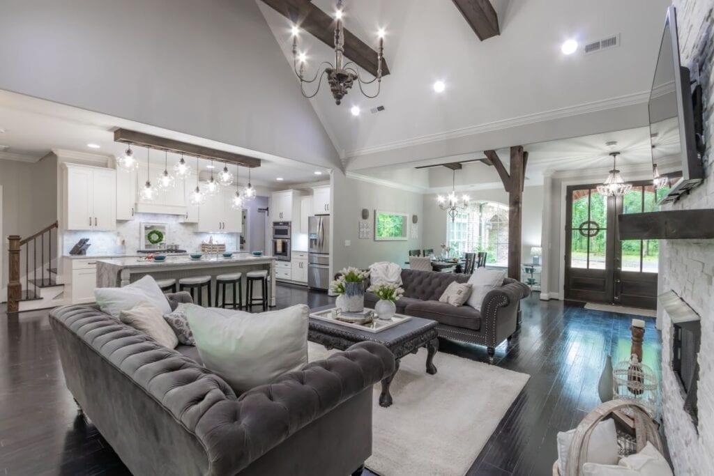 salon moderno bonito y lujoso con muebles clásicos