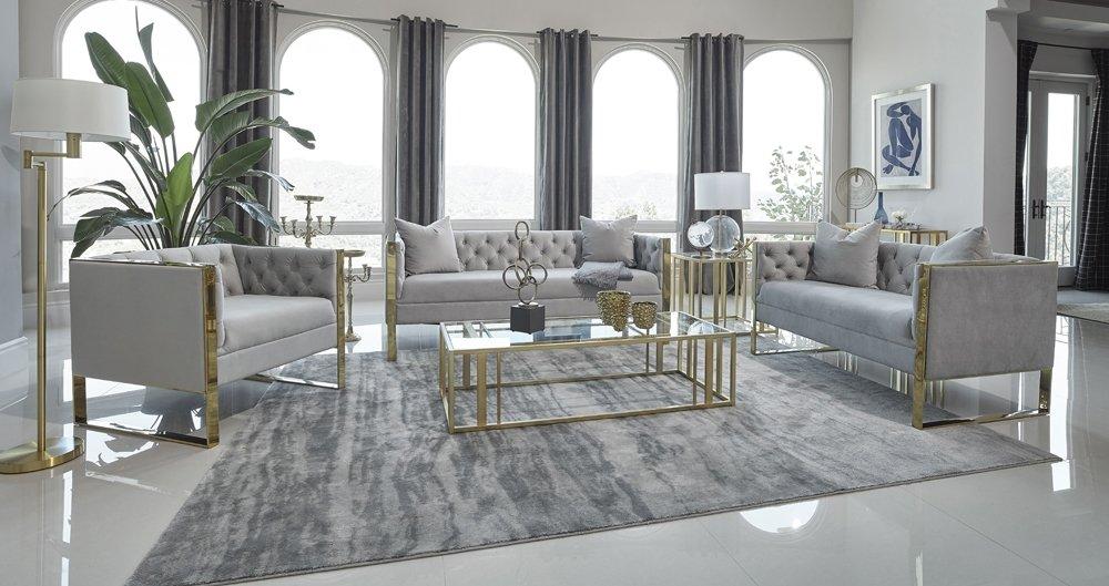 salon moderno bonito y lujoso con un toque brillante