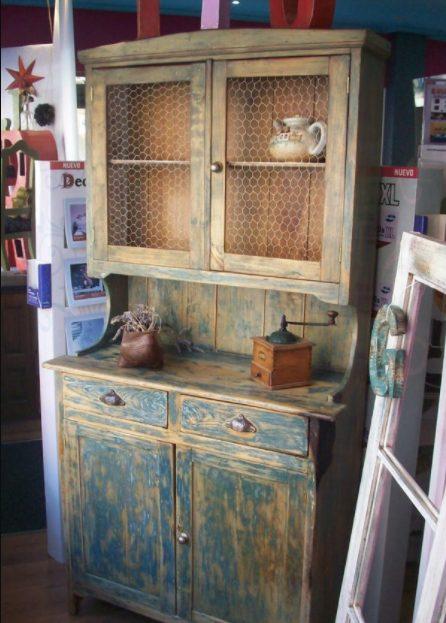 Alacenas de cocina vintage de madera rústicas