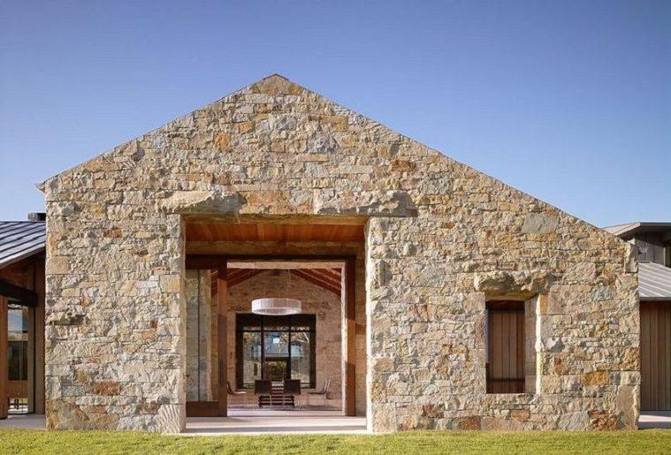 Casas modernas con piedra natural