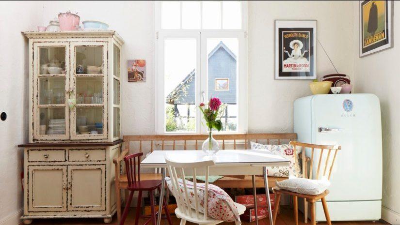 Alacenas de cocina vintage decapada