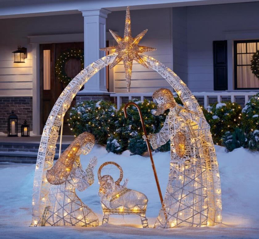 Un Pesebre en tu Jardín Para Navidad