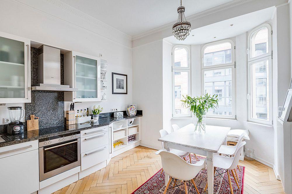 Cocina Escandinava Moderna y blanca