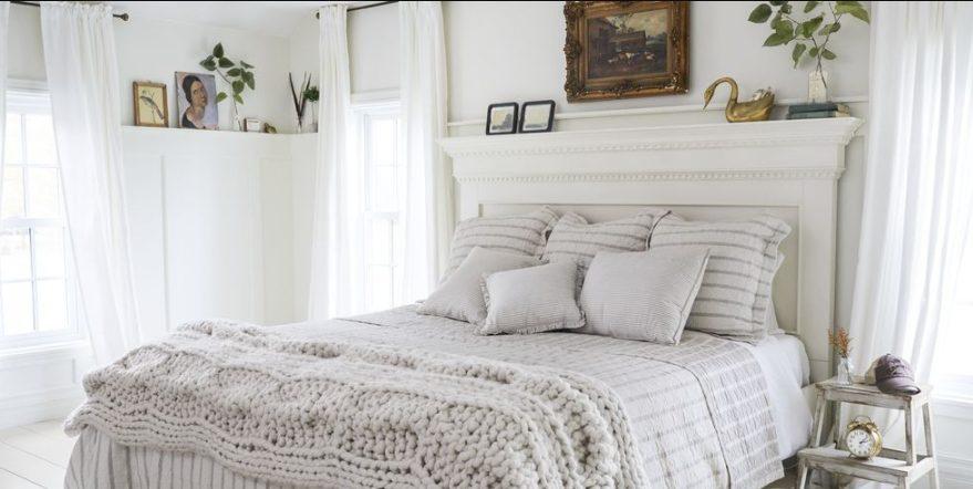 Dormitorio blanco moderno vintage