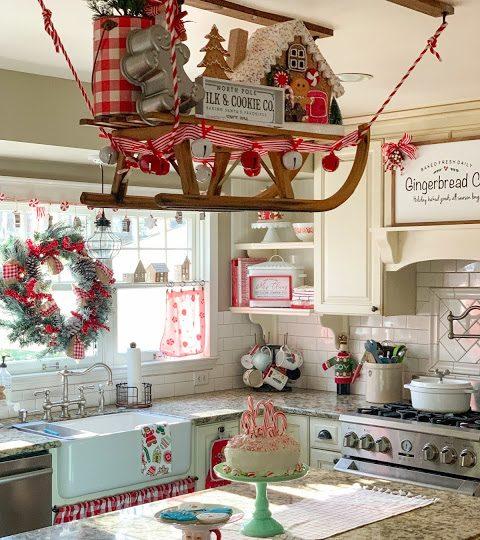 Un Trineo de Navidad para la cocina