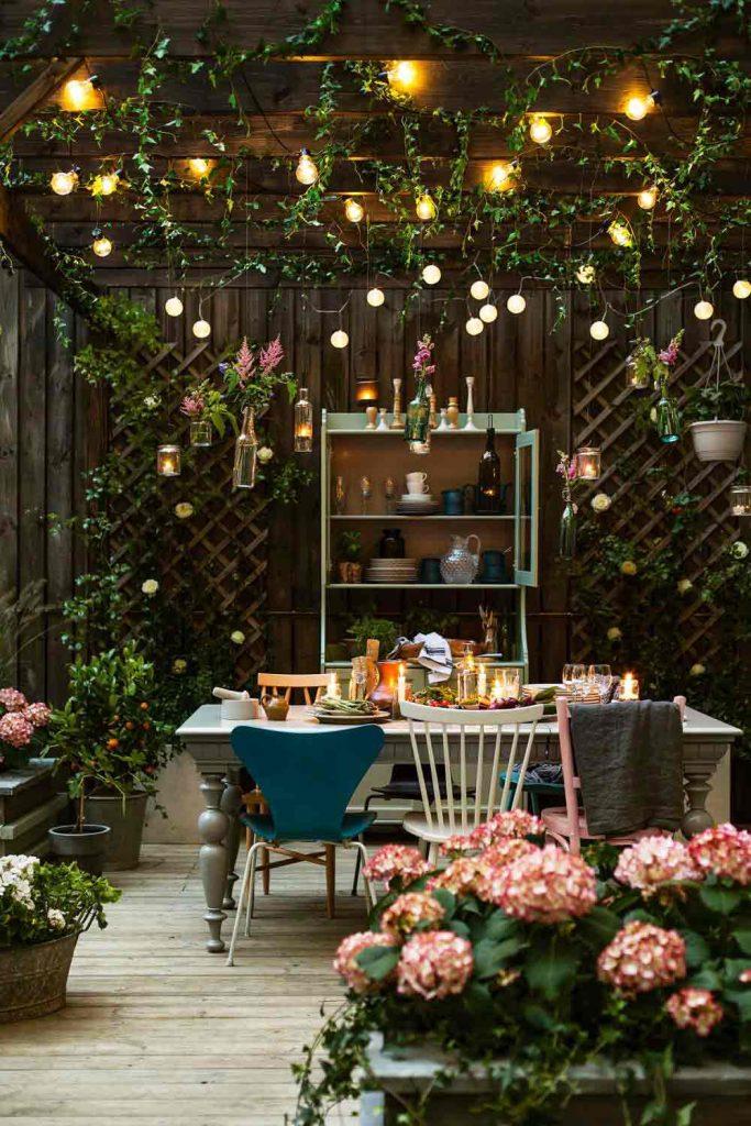 combinación muy agradable para un jardín de invierno