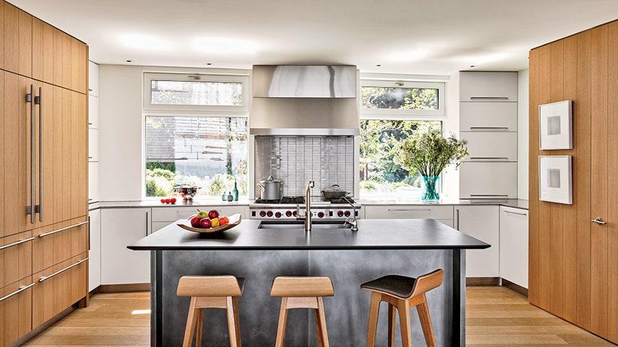Cocina Nórdica de madera Moderna