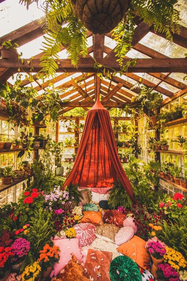 jardín de invierno de ensueño