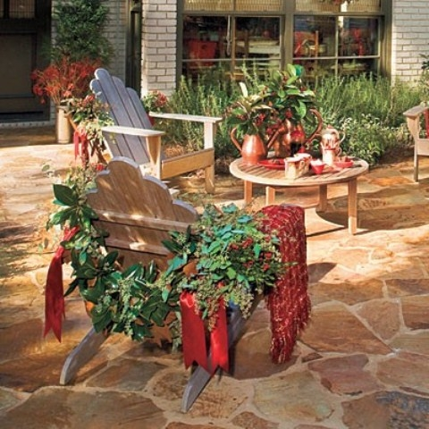 decorar el patio en navidad para charlar