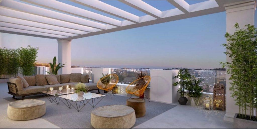 Amueblar una terraza de ático con unas imponente vista