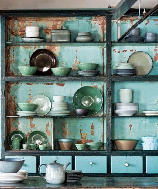 Alacenas de cocina vintage abiertas