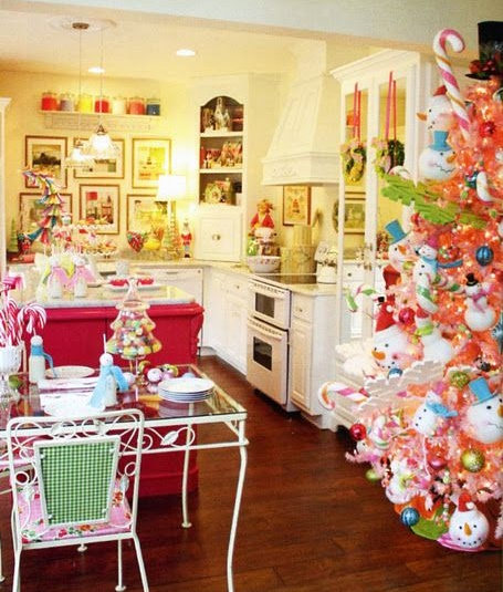 Una Cocina de Caramelos estilo navideño