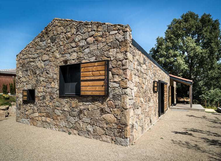 Casas de piedras modernas rústicas