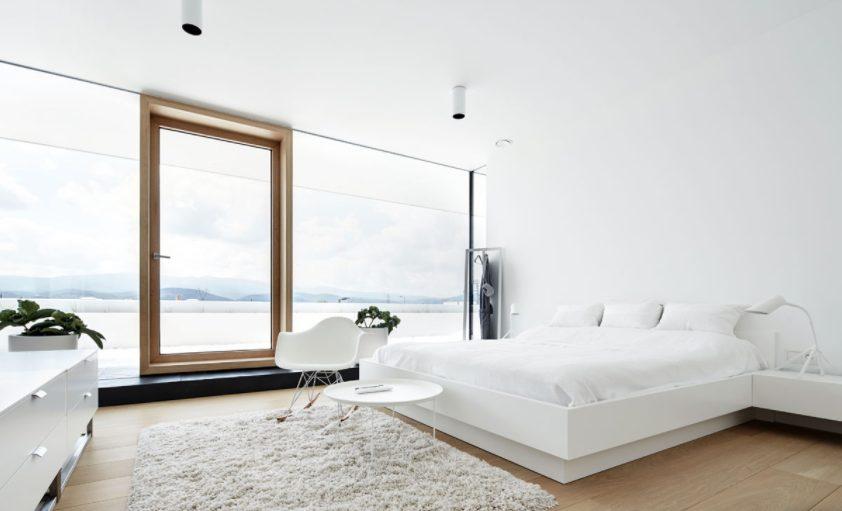 Dormitorios blancos modernos llenos de luz