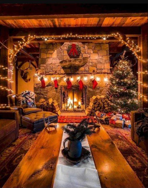 decorar el patio trasero en navidad