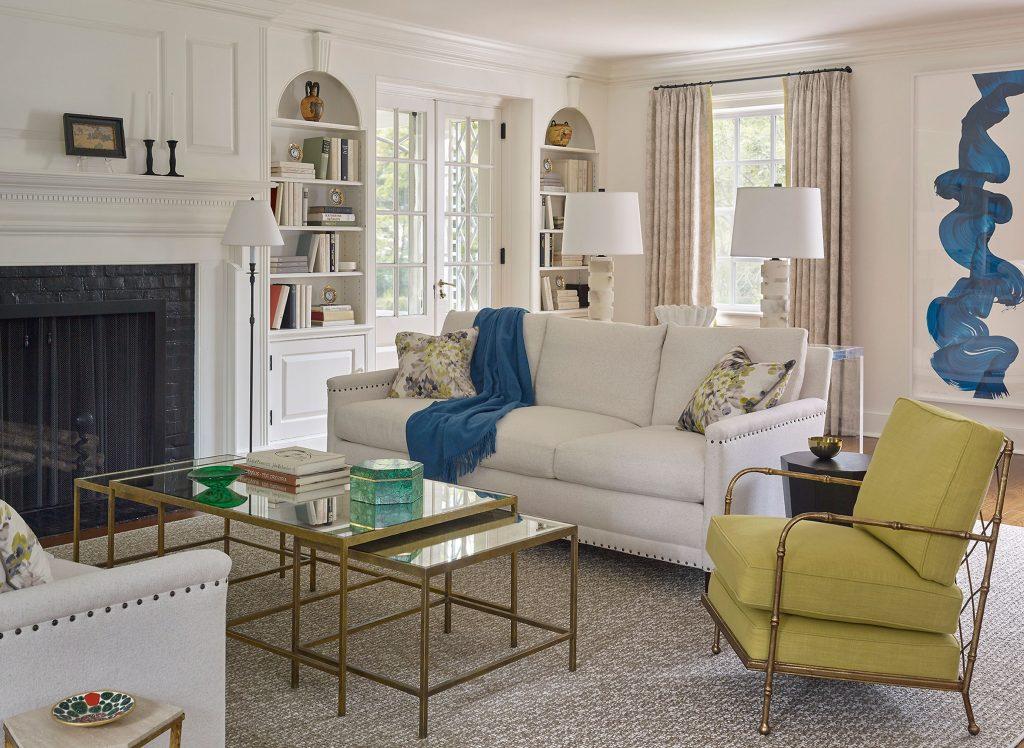 Añade un toque de color a tu salón colonial y moderno
