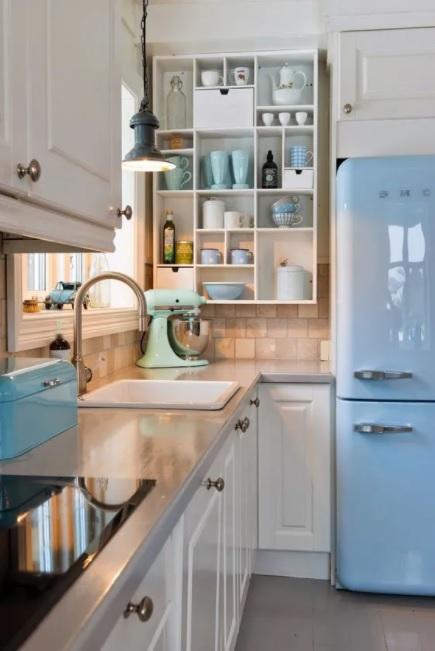 colores que mejor retratan al estilo vintage en la cocina