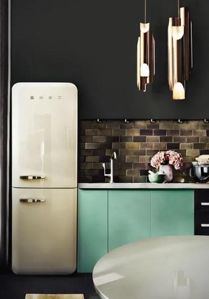 electrodomésticos vintage en la cocina