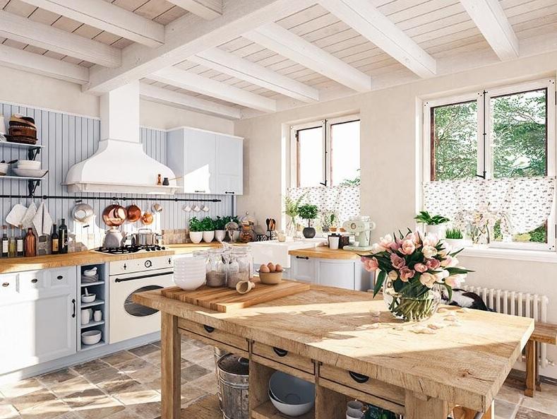 ambiente más acogedor con una cocina rústica y vintage
