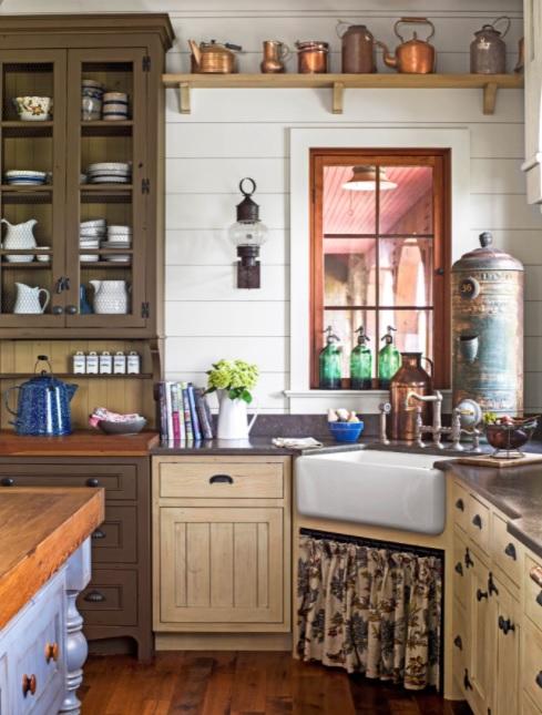 cortinas vintage en tu cocina