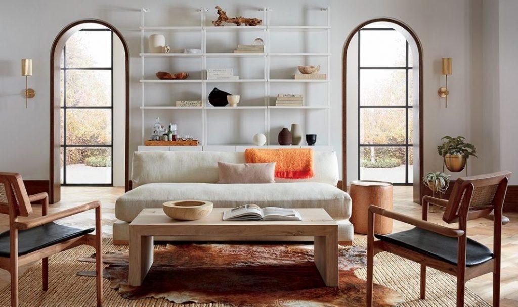 Una estantería mueble en el salón con Simplicidad